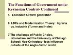 the functions of government under keynesian control continued