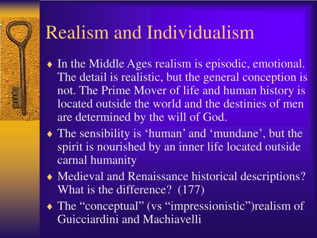 Realism and Individualism