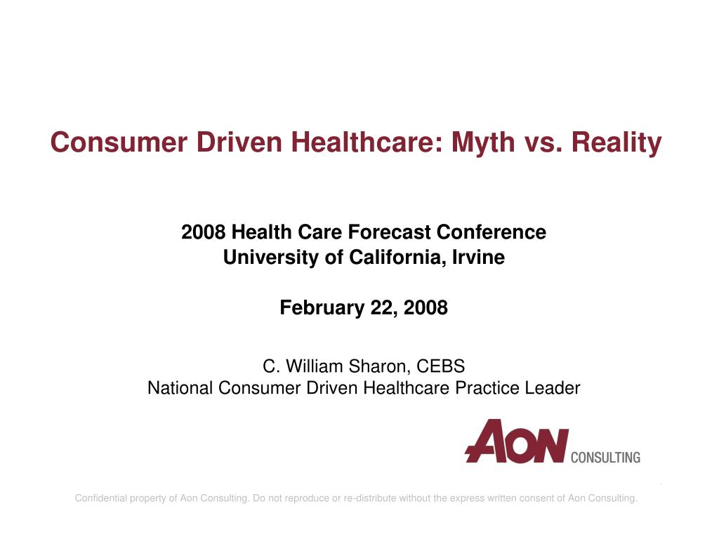 consumer driven healthcare myth vs reality l.