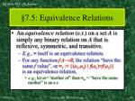 7 5 equivalence relations