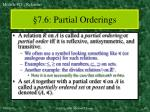 7 6 partial orderings