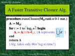 a faster transitive closure alg