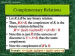 complementary relations