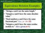 equivalence relation examples