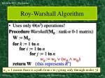 roy warshall algorithm