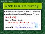simple transitive closure alg