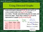 using directed graphs