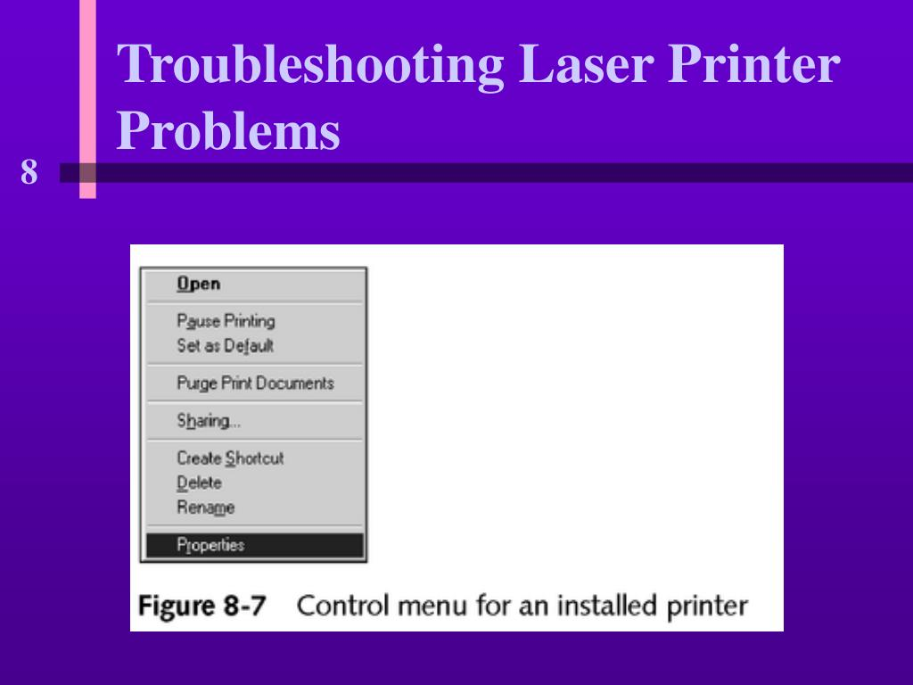 Troubleshooting Laser Printer Problems