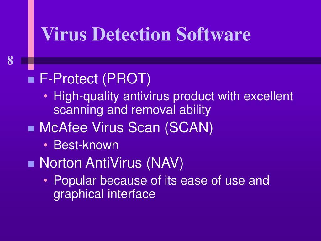 Virus Detection Software