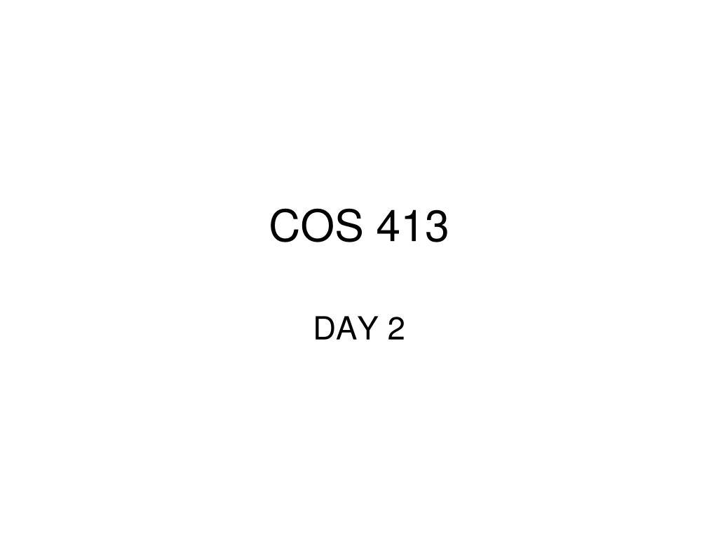 cos 413 l.