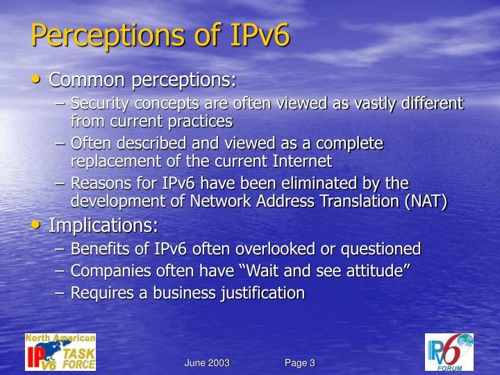 Perceptions of ipv6