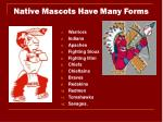 native mascots have many forms
