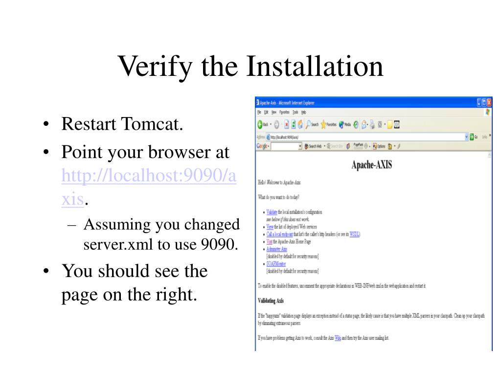 Verify the Installation