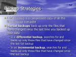 backup strategies