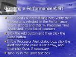 creating a performance alert1