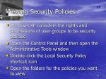 viewing security policies