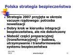 polska strategia bezpiecze stwa