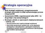 strategia operacyjna