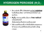 hydrogen peroxide h 2 o 2