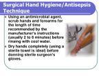 surgical hand hygiene antisepsis technique27