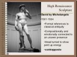 high renaissance sculpture