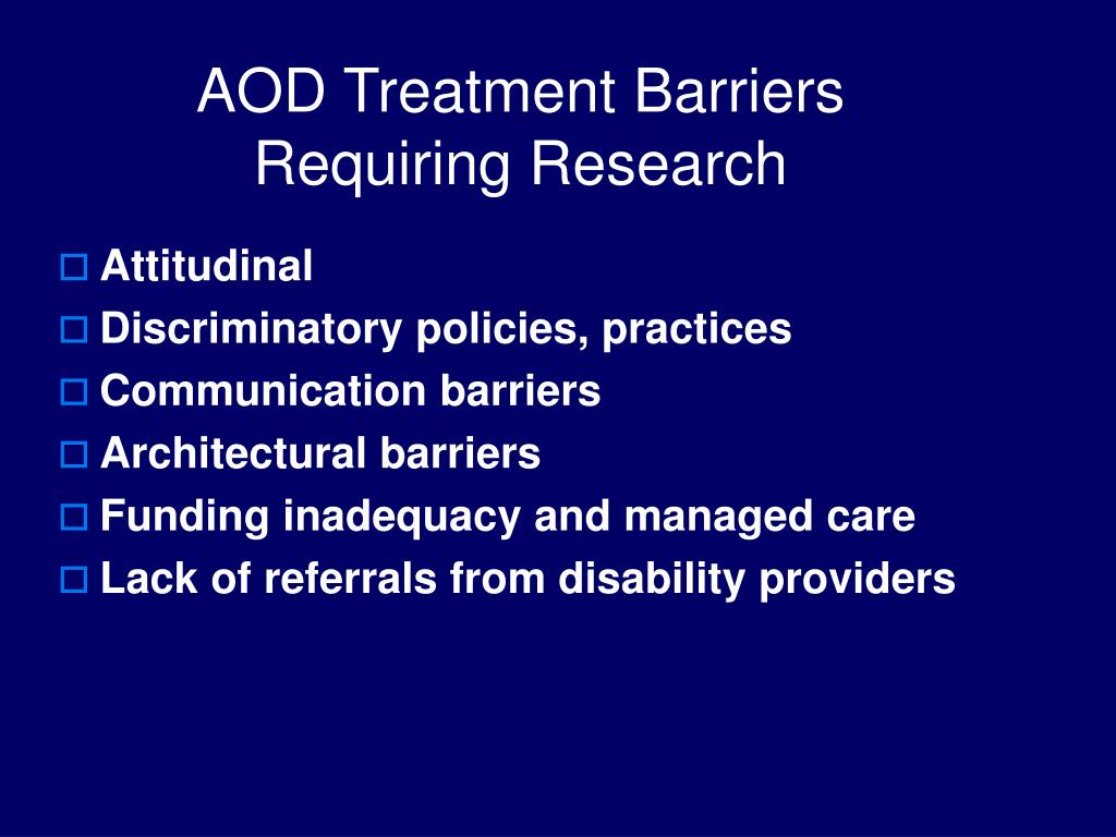 AOD Treatment Barriers