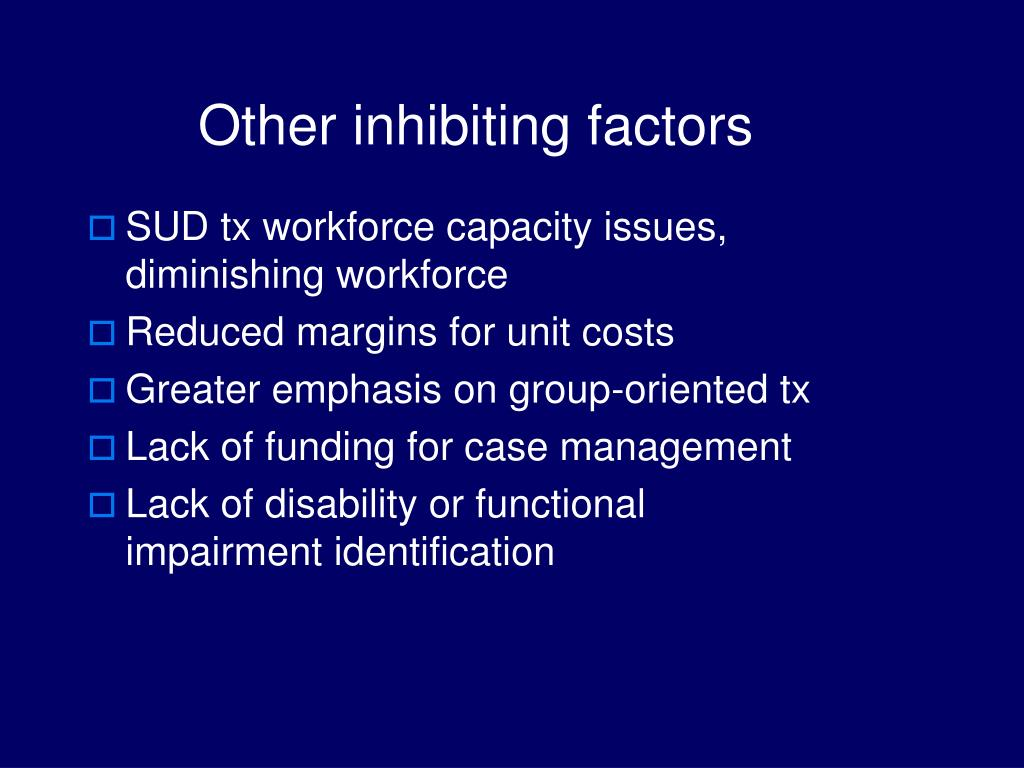 Other inhibiting factors