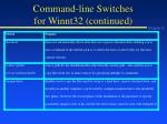 command line switches for winnt32 continued1