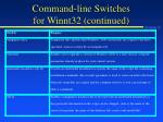 command line switches for winnt32 continued2