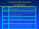 command line switches for winnt32
