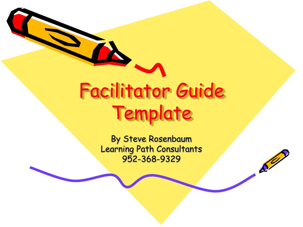 Ppt Facilitator Guide Template Powerpoint Presentation Id 157881