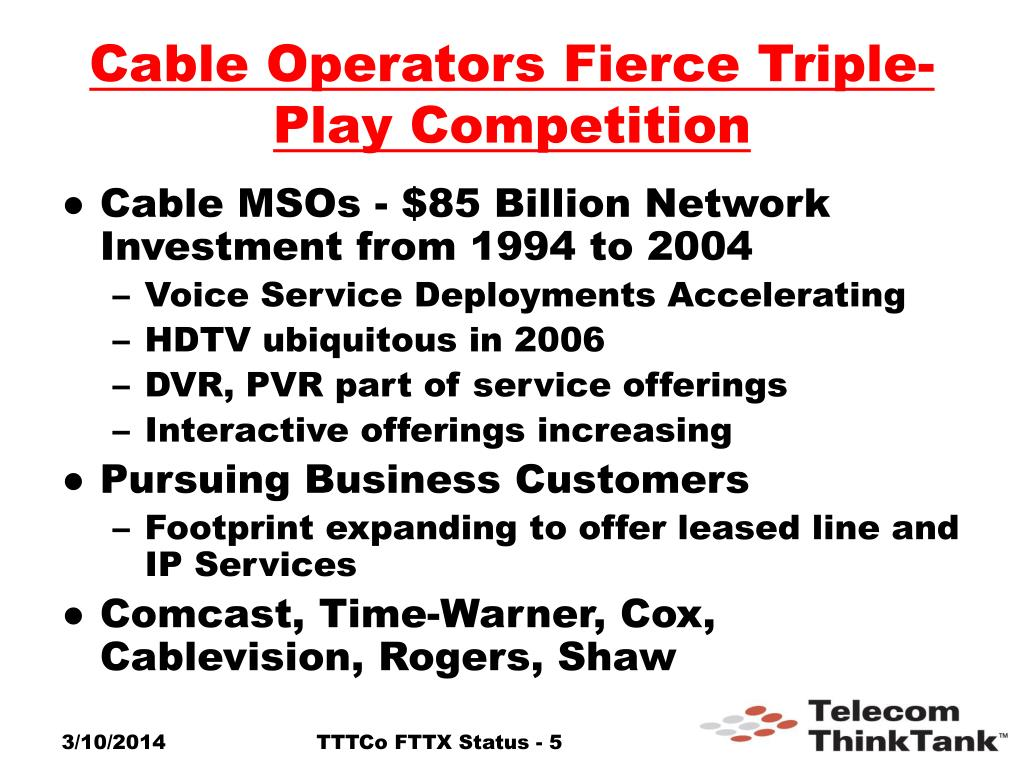 Cable Operators Fierce Triple-Play Competition