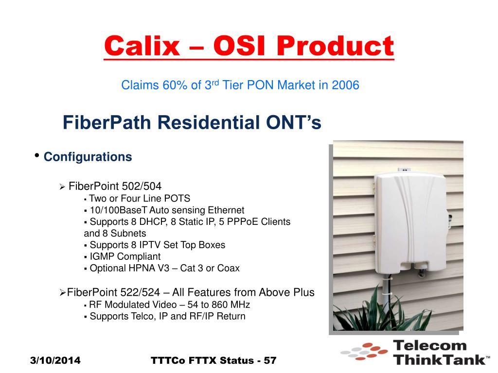 Calix – OSI Product