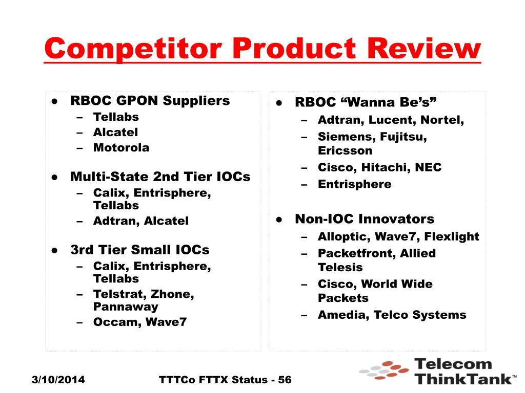 RBOC GPON Suppliers