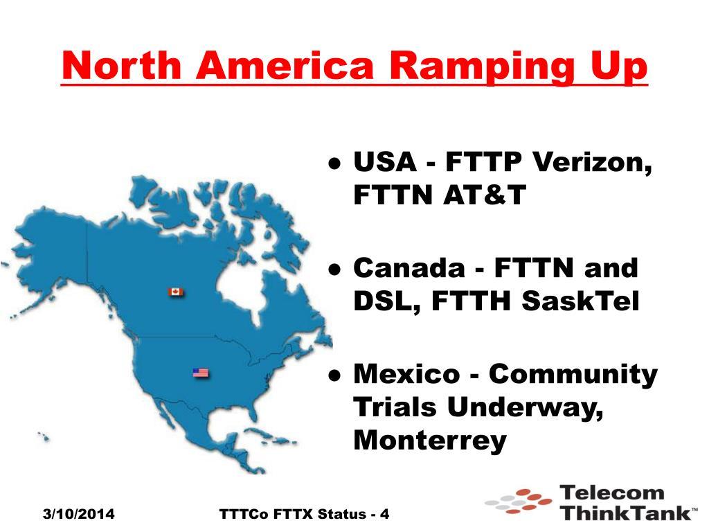 North America Ramping Up