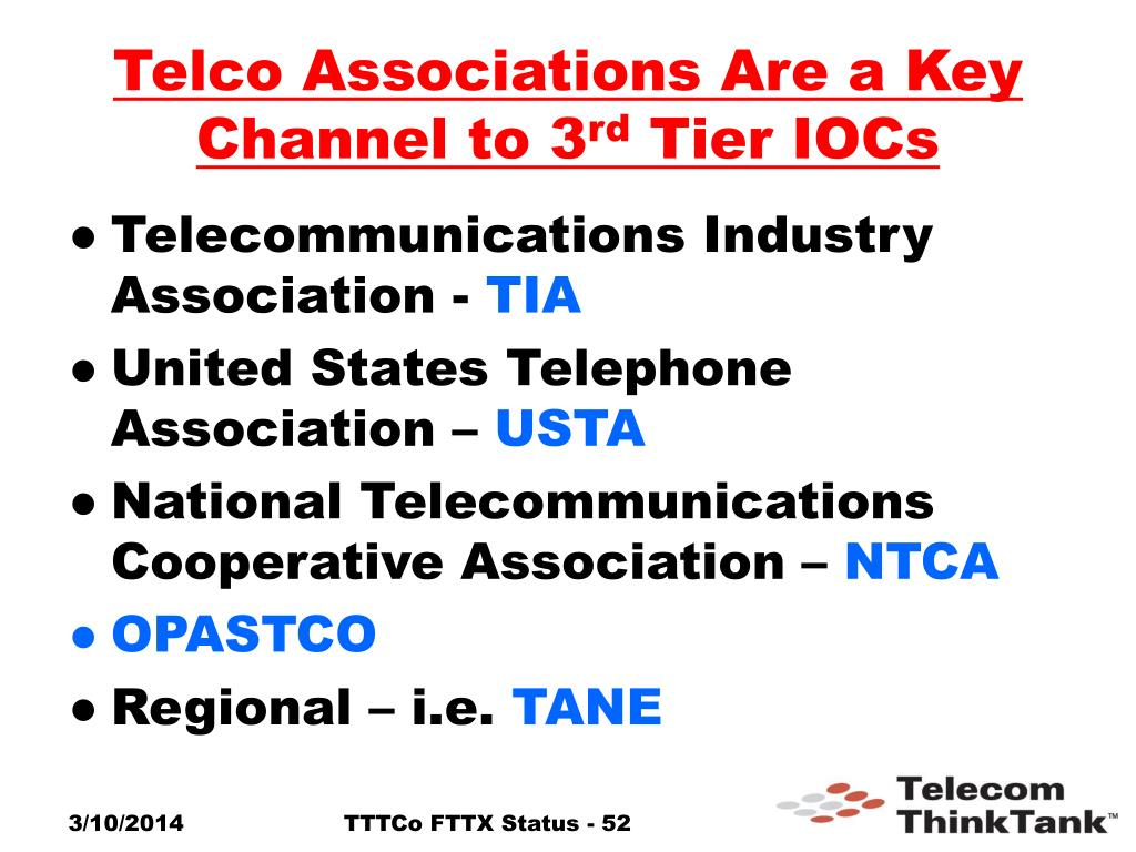 Telco Associations Are a Key Channel to 3