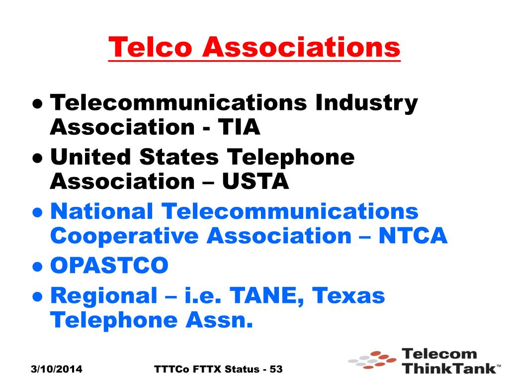 Telco Associations