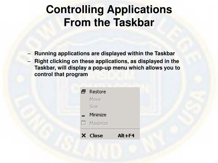 Controlling Applications