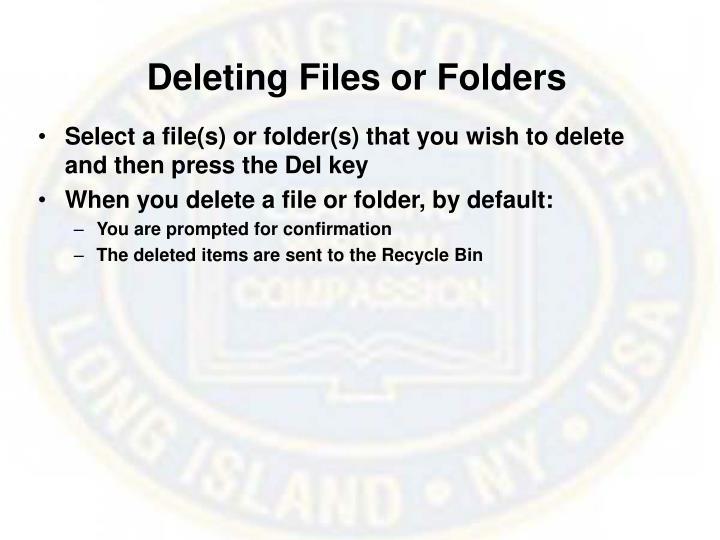 Deleting Files or Folders