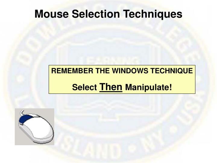 Mouse Selection Techniques