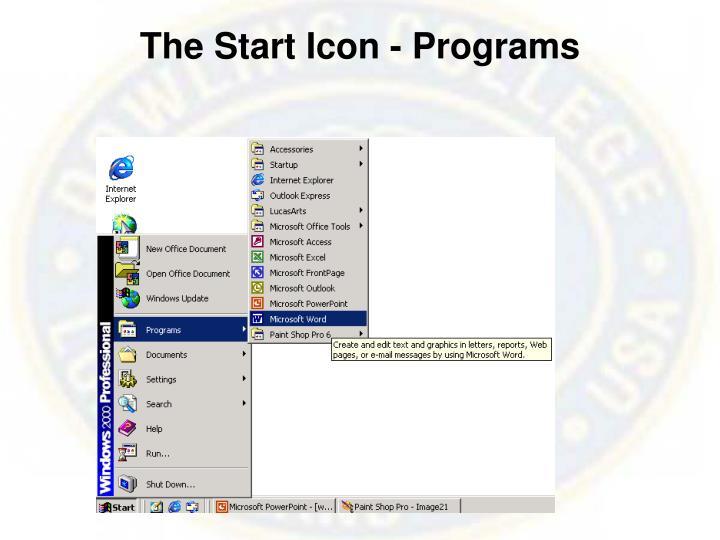 The Start Icon - Programs