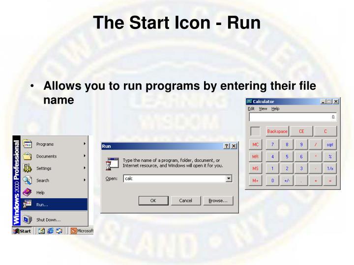 The Start Icon - Run