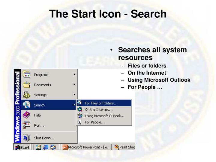 The Start Icon -