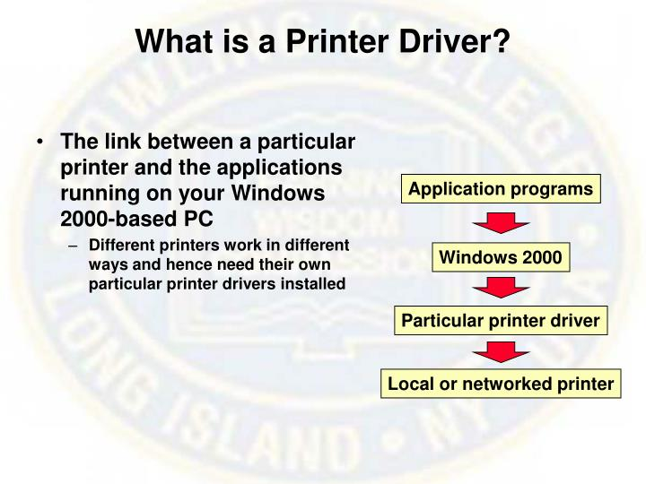 What is a Printer Driver?
