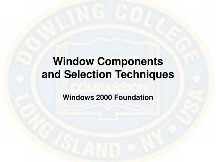Window Components