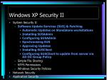 windows xp security ii1