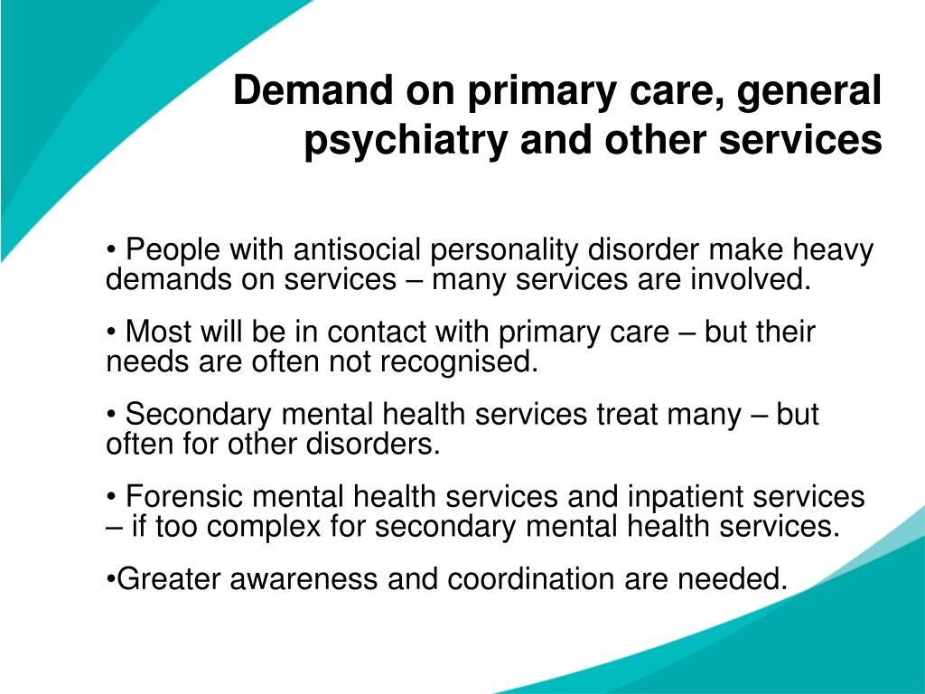 Demand on primary care, general psychiatry and other services