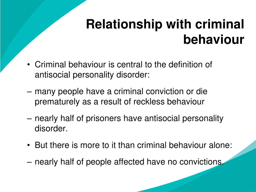 Relationship with criminal behaviour