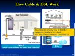 how cable dsl work