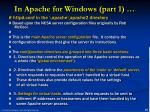 in apache for windows part 1
